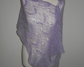 hand knitted lace shawl mohair