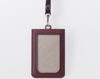 Washable Paper ID Badge Holder in Uluru Red