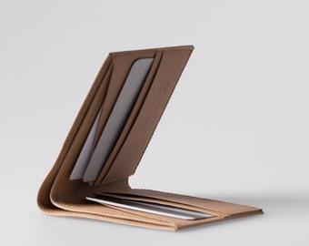 Minimalist Super-Thin Washable Paper Bi-Fold Wallet in Sahara Camel / Vegan Wallet / Thin Bifold / Paper Wallet / Mens Wallet