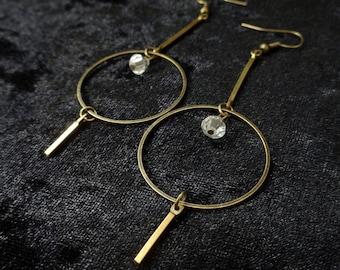 Geometric statement earrings, modern minimalist lightweight shoulder dusters