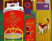 Kashtanka by Anton Chekhov 1950s 1960s Mid Century Children's Book Illustrated by William Stobbs