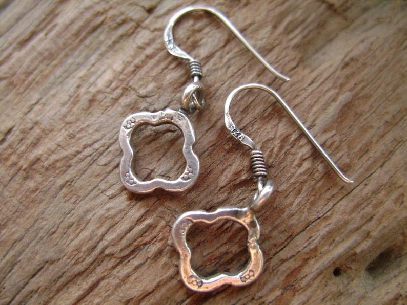 Hilltribe Silver Earrings Silver Earrings Thailand Jewelry The Silver Border Tribal Earrings