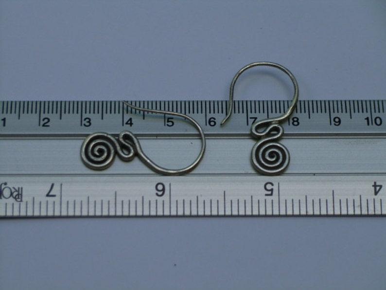Silver Spiral Earrings 4 The Sassy Lines