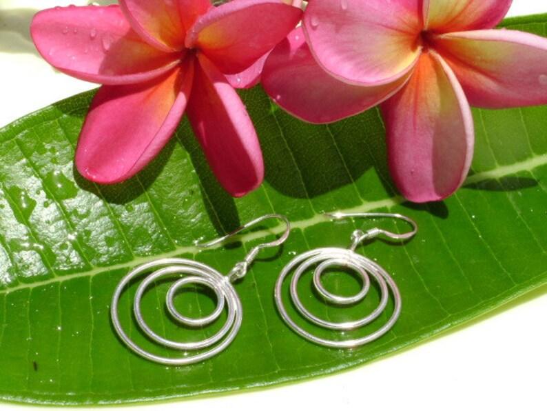 Thai Silver Earrings The Three Rings
