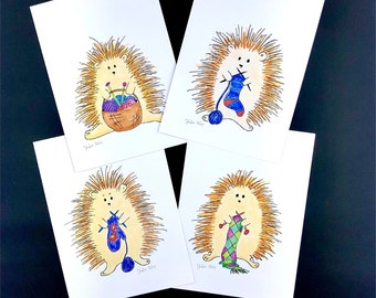 hedgehog note cards, happy mail, snail mail cards to make you smile