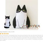 Loss of cat gift crochet custom cat pillow pet portrait personalized cat gift for cat lover cat pillow  stuffed tuxedo cat portrait pillow