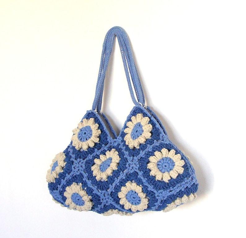Crochet flower purse hippie purse shoulder