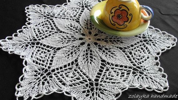 Kleiner Tisch Herzstück Weiße Spitze Baumwolle Deckchen Hand | Etsy
