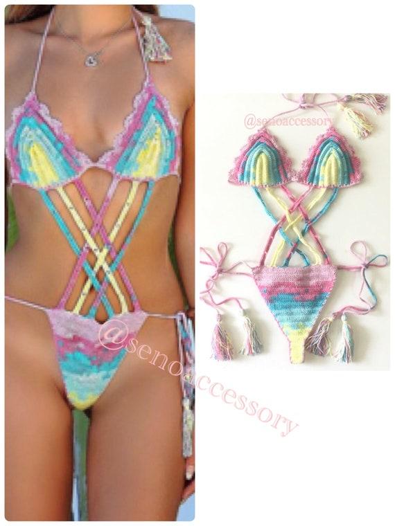 b3f5836e4ccec5 Bikini Bikini Monokini stringi kobiety kostium kąpielowy image 0 ...