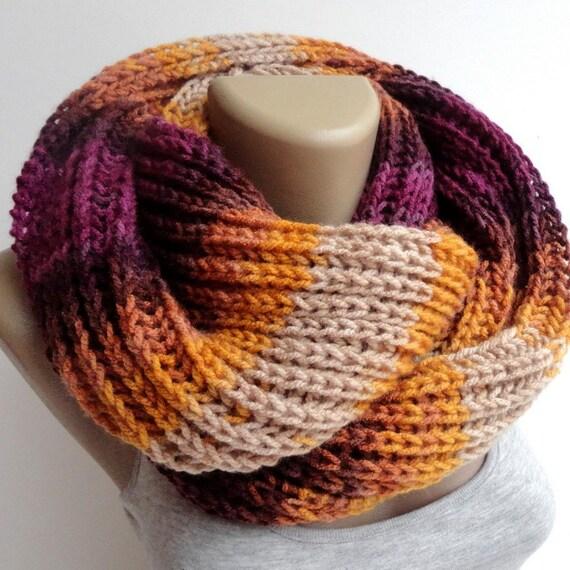 Stricken Schal Winter Schal Frauen stricken Infinity Schal   Etsy