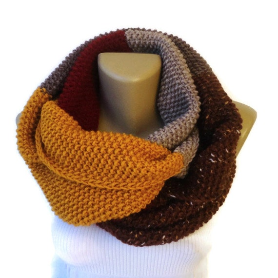 Dr Who Scarf Style Infinity Scarf Chunky Knit Scarf Men Etsy