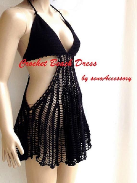 5f65457ba8810 black crochet beach dress – Little Black Dress   Black Lace ...