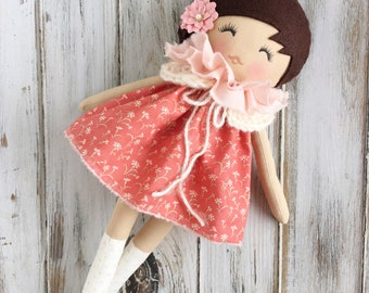 Cecelia - Handmade Doll - SpunCandy - Cloth Doll - SpunCandy Doll - Fabric Doll - Heirloom Doll - Cloth Doll - Rag Doll - Nursery Decor