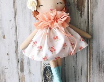 SpunCandy Classic Doll, Heirloom Quality Doll, Modern Rag Doll, Nursery Decor, Kids Decor, Fabric Doll, Cloth Doll, Handmade Doll