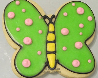 Dotted Butterfly cookies 2 dozen