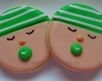 Boy Baby Face cookies 2 dozen