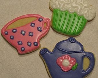 Tea Party Cookies 2 dozen