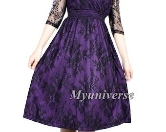 Items similar to Black Lace Plus Size Dresses For Women ...