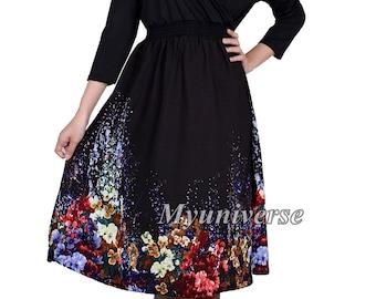 16b6c72d417 Plus Size Formal Dresses For Women Prom Dress Evening Dress 3 4 Long  Sleeves Floral Dress Little Black Dress Wear To Work Office Swing Dress