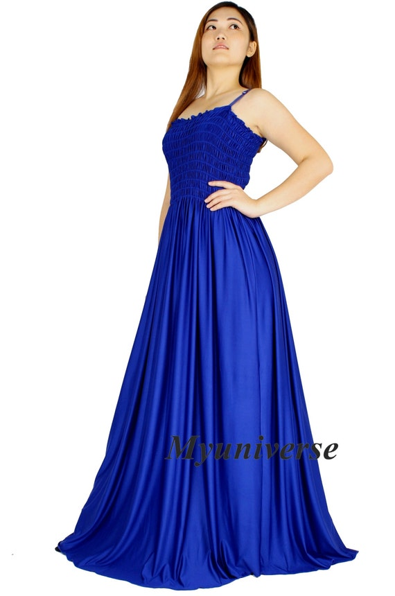 elegant appearance undefeated x Sales promotion Royal Blue Evening Dress Formal Gown Gala Maxi Dress Bridesmaid Women Plus  Size Clothing Gala Long Hawaiian Dress Summer Full Length Summer