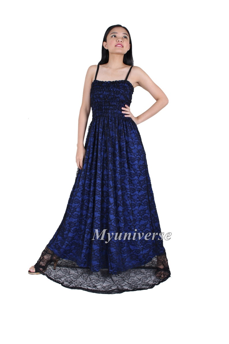 e2bf657df2b Black Lace Maxi Dress For Women Plus Size Dresses Blue Maxi