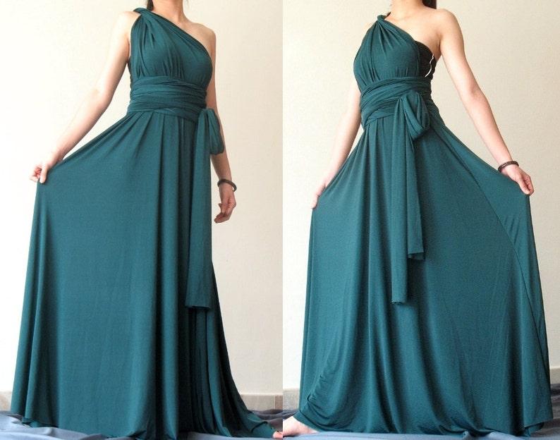556915f907934 Bridesmaid Dress Full Length Infinity Dress Wrap Convertible | Etsy