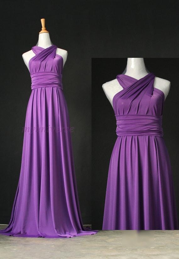 Bridesmaid Dress Infinity Dress Full Length Wrap