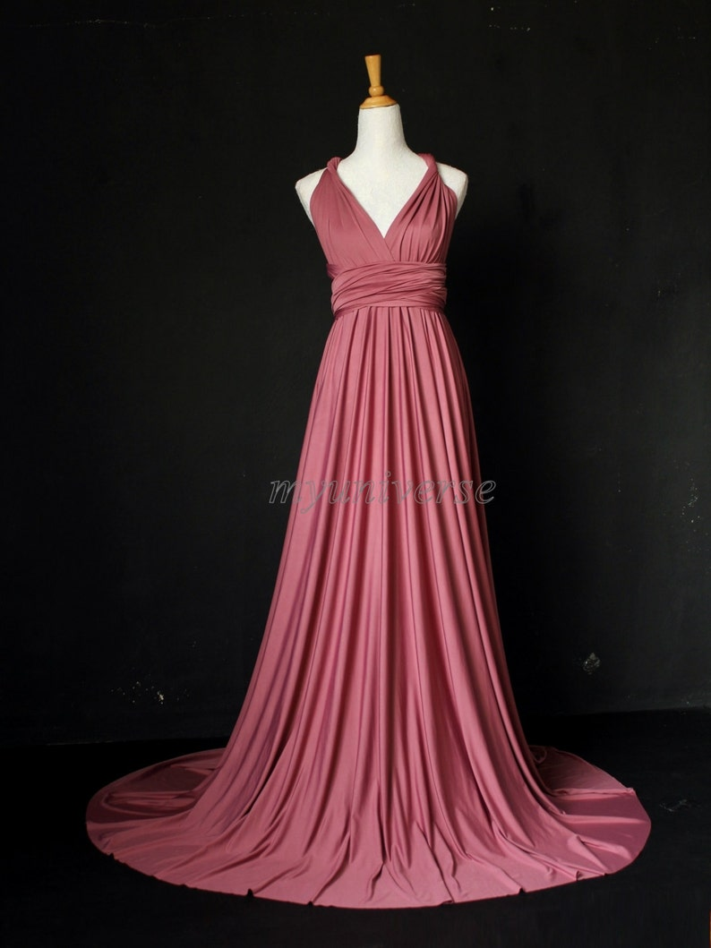 72b1d96846c Dark Pink Bridesmaid Dress Wrap Infinity Dress Wedding Gown