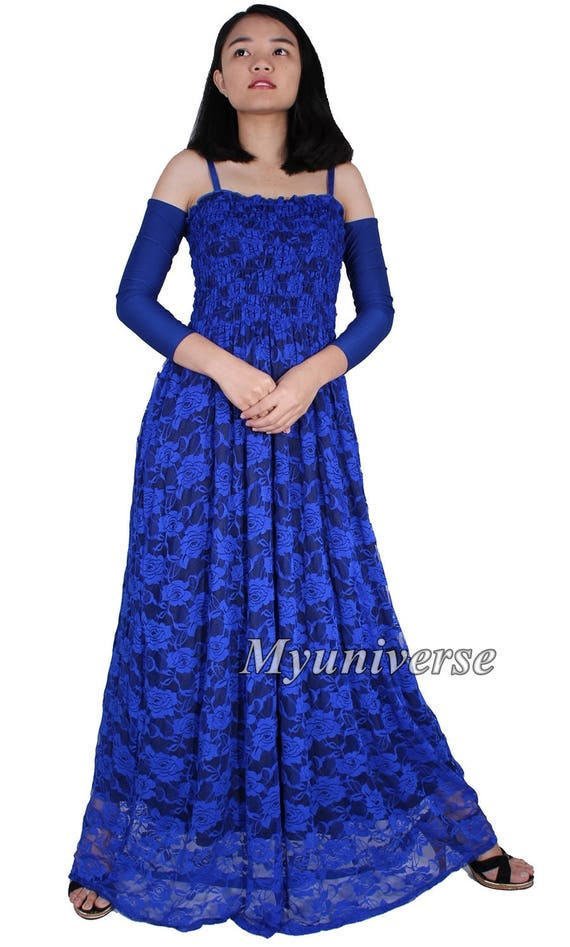 Maxi Dress With Sleeves Vintage Floral Lace Dress For Women Etsy