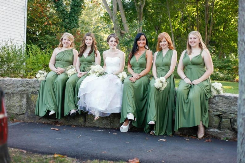 62d038ed452 Bridesmaid Dress Olive Green Infinity Dress Wrap Convertible