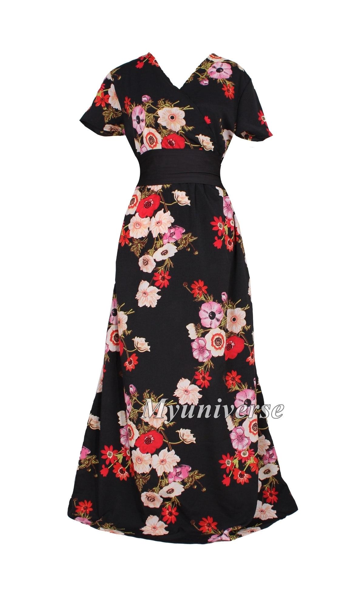 ecbff46d3a551 Plus Size Dress Maxi Dress Women Long Floral Maternity Dress | Etsy