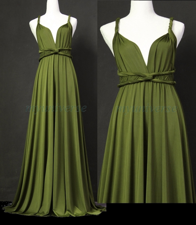 05d96233dab5 Sage Bridesmaid Dress Olive Green Infinity Dress Wrap | Etsy