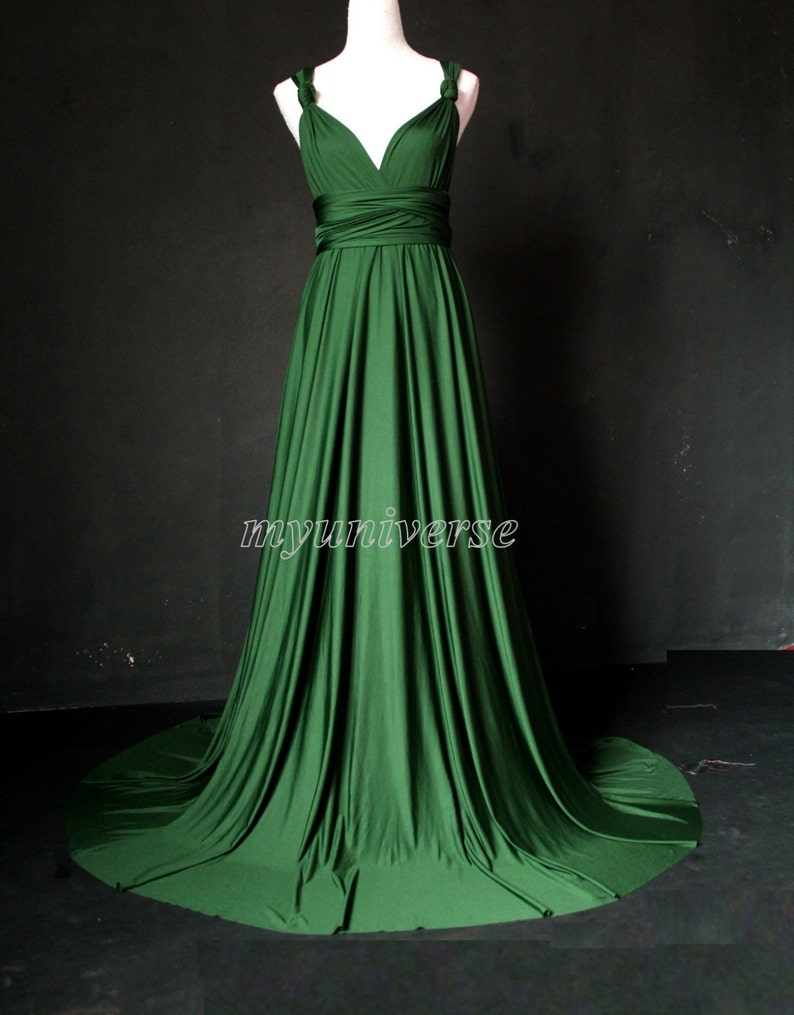 84b7c784ab0 Deep Green Bridesmaid Dress Wedding Dress Infinity Dress Wrap