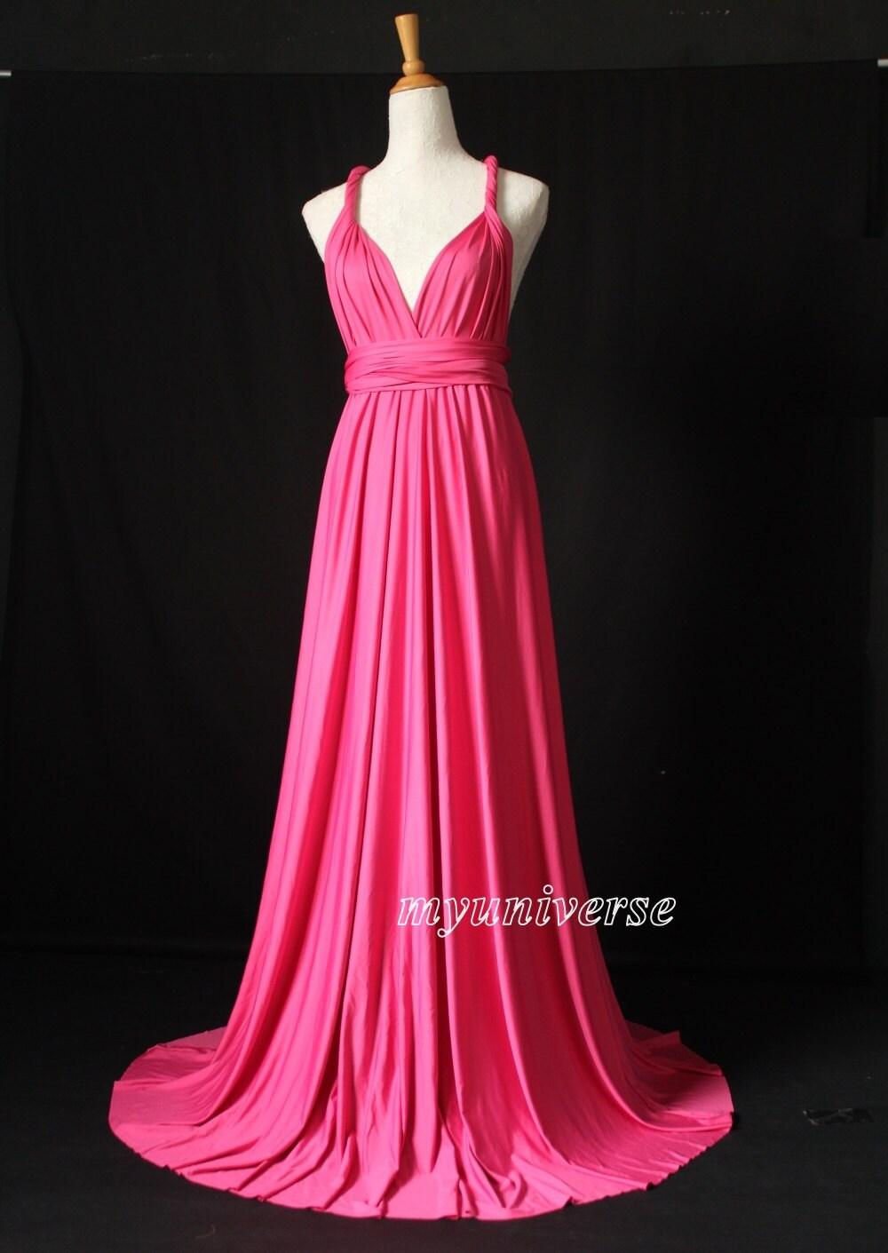 Rose Pink Infinity Dress Wrap Convertible Dress Bridesmaid