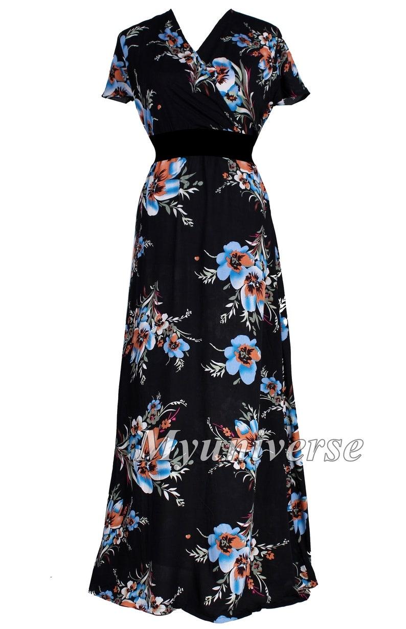 Maxi Dress Full Length Long V Neck Summer Dress Party Dress   Etsy