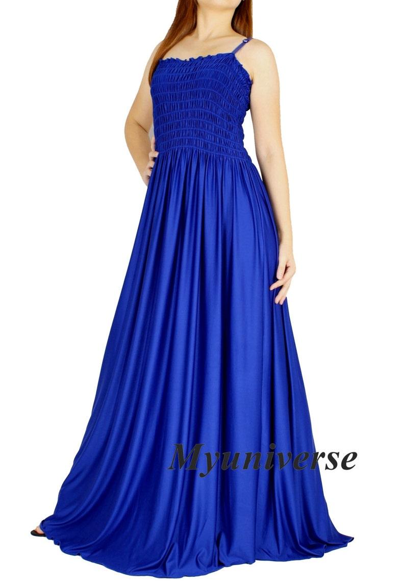 Royal Blue Evening Dress Formal Gown Gala Maxi Dress Bridesmaid Women Plus Size Clothing Gala Long Hawaiian Dress Summer Full Length Summer