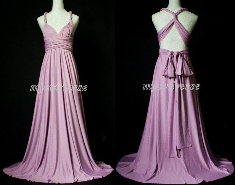 Customize Size & Length Convertible Dress Purple Lavender   Etsy
