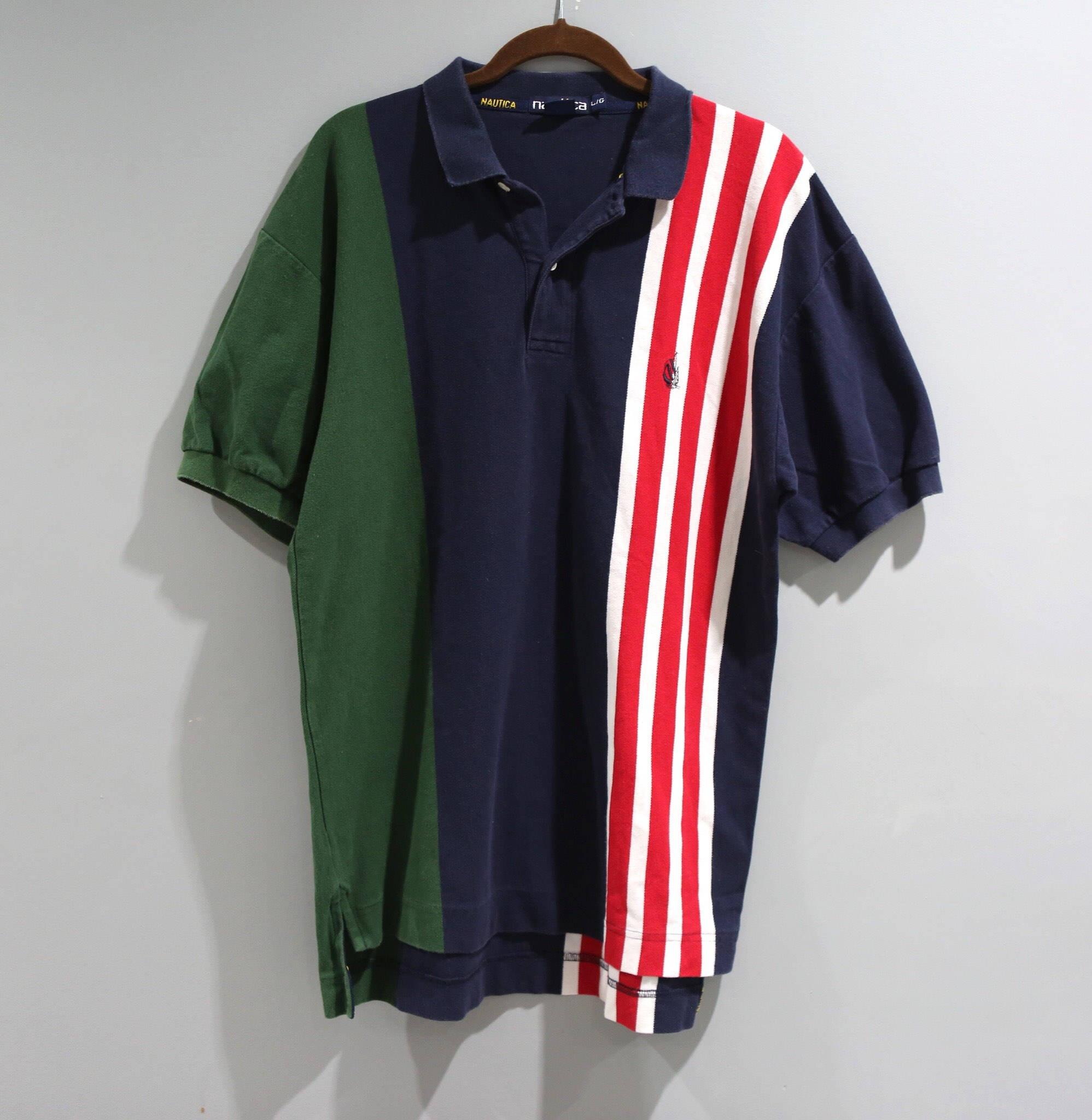Vintage Nautica Shirt Mens Size Large L Short Sleeve Polo 90s Etsy