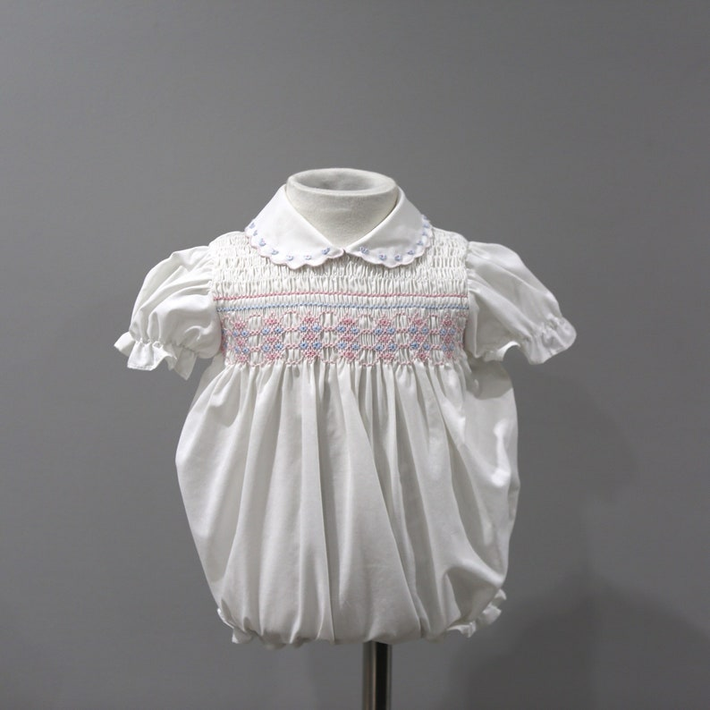 627b7f858 Vintage Baby Togs Romper One Piece Smocked Baby Outfit Size