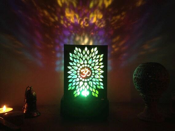 Lampada om yoga lampada desktop di aum. lampada a etsy