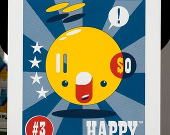 HAPPY™ limited edition 3 colour screenprint