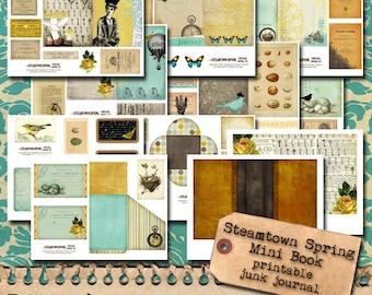 Steamtown Spring 4x6 Printable Journal - February Mini Book