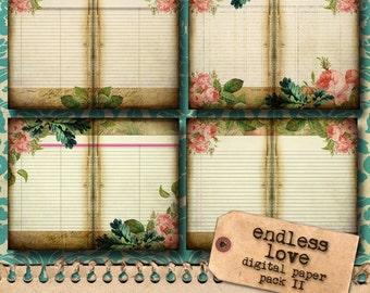 Printable Journal Kit 'Endless Love' - Paper Pack II