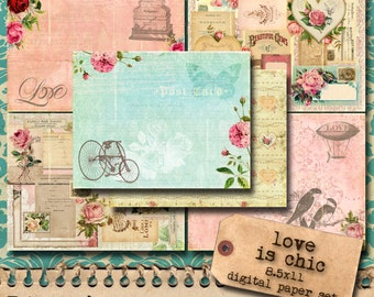Love And Romance Digital Paper Pack