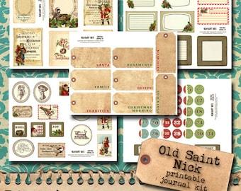 Old Saint Nick -  Christmas Printable Kit