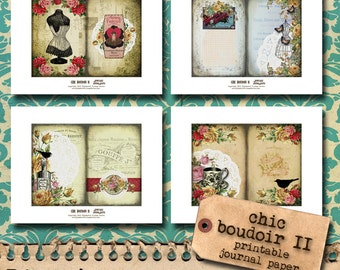 Chic Boudoir II - Printable Journal Pages