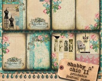 Shabby N' Chic II - Jumbo Journal Page Set