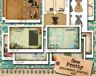 Sew Pretty - 5 x 7 Printable Journal Kit