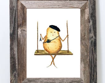 Potato Its Not The Same Without You I Miss You Card Etsy