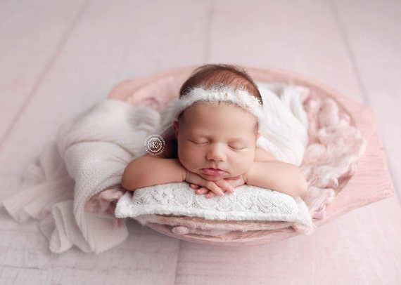 Newborn Photo Prop Headband. Delicate Newborn Headbands. Baby  7243033234c
